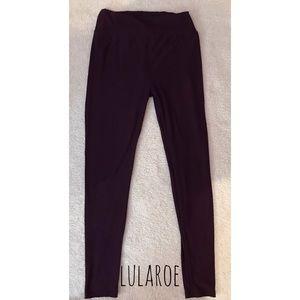LuLaRoe Burgundy One Size Leggings (Sizes 2-10)